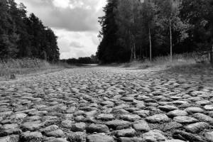 Kamienie ikamyki (droga koło Lipska)