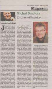 Michał Smolorz o mnie (źródło: archiwum własne, wycinek z DZ, 16 lipca 2010 r.)