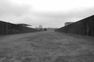 Trace / Ślad (Area of Hauptbahnhof; the remains of the Berlin Wall retrieved in a form of art instalation)