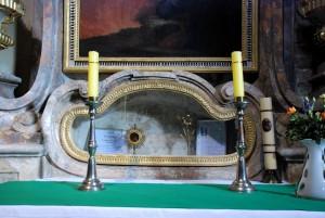 Relikwie św. Walentego (Rudy, Górny Śląsk, wnętrze kościoła parafialnego; luty 2016)