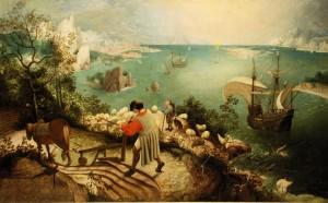Peter Bruegel I, Upadek Ikara / The Fall of Icarus (Bruksela, Królewskie Muzeum Sztuk Pięknych)