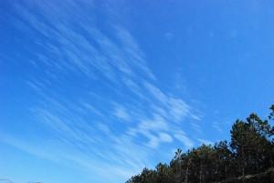 Niebo / poruszenie/ (Łazy, Bałtyk)