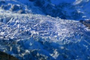 Faktura lodowca (Masyw Mont Pbanc, wdrodze naIgłę Południa)