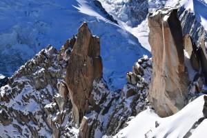 Alpy. Masyw Mont Blanc (okolice Igły Południowej)