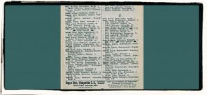 Fragment książki adresowej z19006/1907 roku