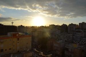 Wschód Słońca nadRamat Gan (Izrael)