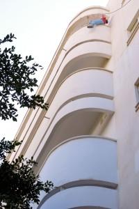 Łuki, fragment budynku przy rondzie Dizengoffa - Białe Miasta, Tel Awiw