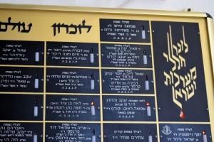 Tablica zsynagogi; inskrypcje odnoszące sie doMartina iSamuela Hirsch