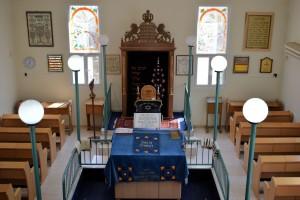Wnętrze synagogi wJokneam
